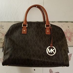 Michael kors Large Dome Leather Satchel